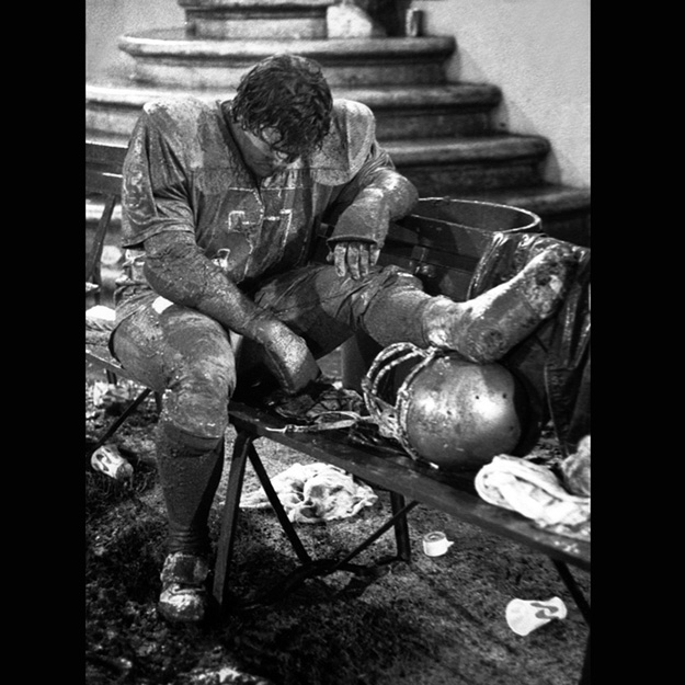 1980 - A Santa Clara University football player reflects on a cold, rainy night in a loss to San Jose State.