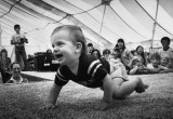Baby races are always a hit at the fair.
