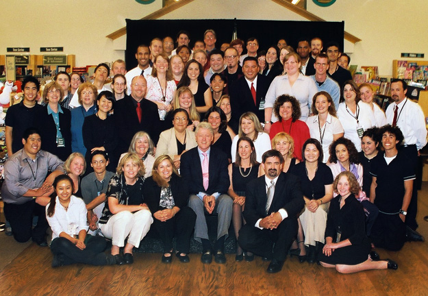 Clinton with bookstore - staff