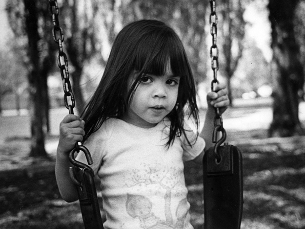 Dan's late niece Michelle on a swing - early 1980s