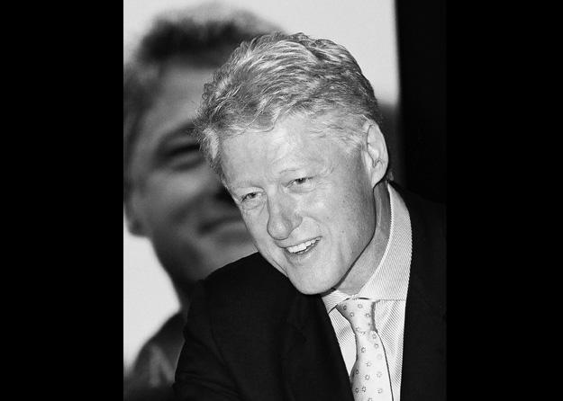 """President Bill Clinton meets guests at his """"My Life"""" book signing tour, (Santa Clara, CA - 2004)."""