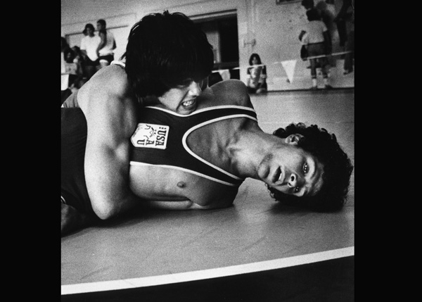 1980 - This Junior Olympics wrestler pinned all seven of his opponents en-route to a gold medal.